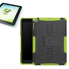Hybrid Outdoor Hülle Grün für Apple iPad 9.7 2017 Tasche + H9 Hartglas Case