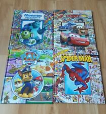 Lot Of 4 Large Look And Find Books Cars Paw Patrol Spiderman Monsters Inc