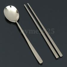 Korean Chopstick Spoon Stainless Steel Solid Stainless Steel Dinnerware Trinkets
