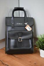 Dr MARTENS Black Kiev Smooth Leather Vintage Backpack Logo Unisex BNWT