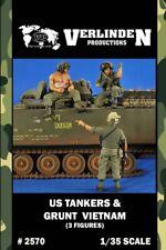 Verlinden 1:35 US Tankers & Grunt Vietnam - 3 Resin Figures Kit #2570