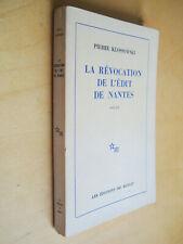 Pierre Klossowski La révocation de l'édit de Nantes Récit éditions Minuit 1978
