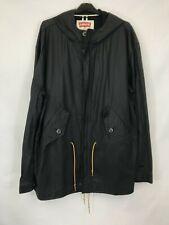 Levis men's parka jacket hooded plain black waxed cotton size XXL 003