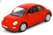 "6.5"" Kinsmart VW Volkswagen Beetle New Diecast Model Toy Car 1:24 Red"