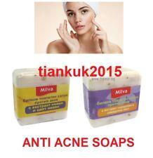 Milva 2 x 60gr. Bar Soaps Anti- Acne with Herbs Calendula and Sumac Extract: