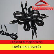 Cable ADAPTADOR de audio estereo macho a macho 3,5 mm de 1 metro alargador jack