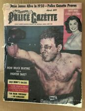 Police Gazette Original Vintage Poster Jake Lamotta Raging Bull Boxing Boxer 50s