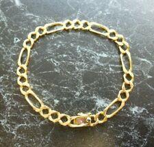 Bracelet en or 18 K maille alternée signé Caplain Paris  poinçon tete d aigle