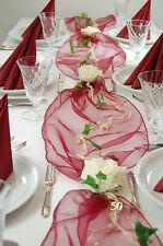 Komplette Tischdeko in bordeaux-creme für goldene Hochzeit oder 50. Geburtstag