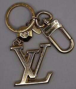 LOUIS VUITTON M65216 LV FACETTES BAG CHARM & KEY RING HOLDER - GOLD - GENUINE