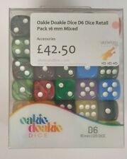 More details for oakie doakie dice - mixed designs d6's  - 120 dice 16mm