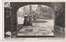Ideal Home Exhibition, Entrance to Elizabethan Garden RP Postcard, B548