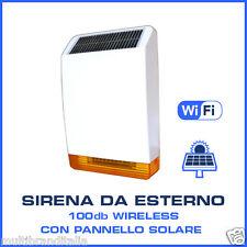 SIRENA SOLARE DA ESTERNO WIRELESS 868 MHZ PER ANTIFURTO CENTRALE DEFENDER ST6