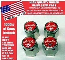 AMC Javelin American Motors Corporation Chrome Plated Red Valve Stem Caps NICE