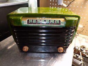 Bendix 0526C Green Cataline Radio Recapped Working DAMAGED!