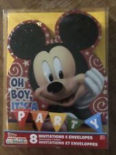 Disney Mickey Mouse Clubhouse Birthday Party Invitations 8 With Envelopes