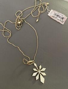 Kendra Scott Colorbar Geometric Flower Charm & Thin Chain Necklace