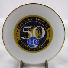 Holiday Rambler RV Pin Trinket Dish 50 Years Blue Circle HR Logo Porcelain