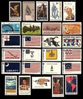 1968 Year Set of 25 Commemorative Stamps Mint NH - Stuart Katz