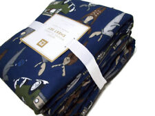 Pottery Barn Teen Multi Colors Merry Moose Flannel Cotton Queen Sheet Set New