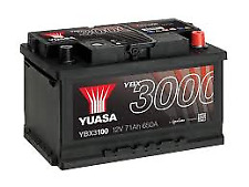 YUASA SMF 71ah 650CCA 12v Type 096 Car Battery 3 Year Warranty - EB712 YBX3100