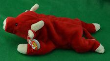 Snort Original TY Beanie Baby Red Bull Birthdate May 15 1995 MWMT Style 4002