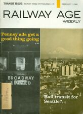 1966 Railway Age Magazine: Rail Transit for Seattle/Pennsy Ads Good Thing Going