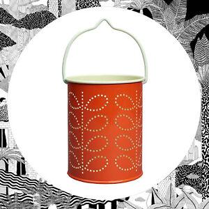 Orla Kiely Tea Light Lantern ORANGE- Candle Holder Light Lantern Garden Hanging