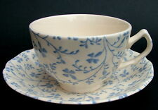 Johnson Brothers Susanna Blue Laura Ashley Tea Cups & Saucers - Look in VGC