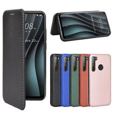 For HTC Desire 20+ / 20 plus / 20 pro Magnetic Carbon Fiber Leather Wallet Case