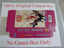 Surf Ninjas, 100% Original Unused Box Only, Sega Game Gear