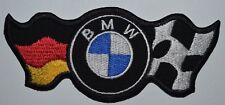 BMW logo With Flag racing biker car embroidered iron on patch badge motor sports
