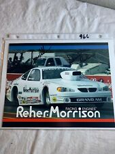 Double Signed David Reher + ?? NHRA Reher - MorrisonPhoto Card 8 x 10 N 966