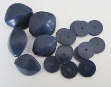18 x Vintage Dark Blue Acrylic Bead Mix