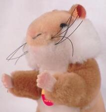 Steiff Goldy Hamster Plush Animal w Button & Tag Germany 2150/12 Vintage Nice