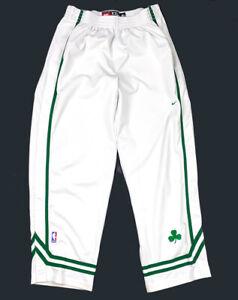 Nike Boston Celtics Authentic White Snap Tear-Away Warm-Up Pants Men's 2XL