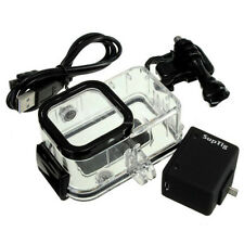 Backpack External Battery +Waterproof Housing Case For GoPro Hero 5/4 Session