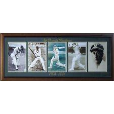 Cricket Australia Sir Donald Bradman 5 Photo Series Framed