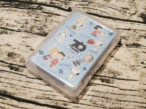 Snoopy Cute Playing Cards Poker Plastic Case Gift Limited 70th Year Anniversary