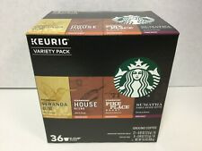 Starbucks K-Cup Pods Coffee Variety Pack, Pike Place, Veranda, 36 Count, 2019