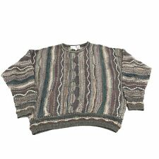 Florence Tricot Mens Pullover Sweater XL Cosby Style Textured Long Sleeve Cotton