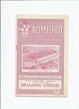 Romford v Spalding United 19 March 1960 Eastern Counties League