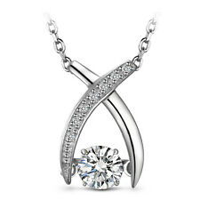 S925 Sterling Silver 1/4ct Dancing Diamond Necklace w Swarovski Element