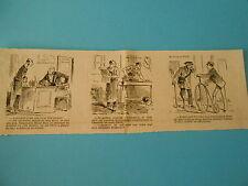 Caricature 1884 - Vignettes Accorder au Facteur le Vélocipède