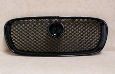 JAGUAR XF 2008-2011 GLOSS BLACK MESH SPORTS FRONT GRILL XFR XF-R STYLE NEW