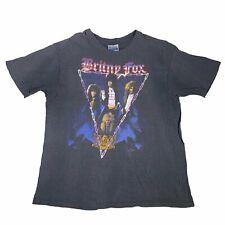 "Vintage Britny Fox ""Rock Revolution"" T-Shirt 1989 Sz XL Kiss Motley Crue Metal"