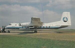 CIVIL AIRCRAFT PHOTO POSTCARD COLUMBIA PLANE PICTURE HERALD G-BFRK EAST MIDLANDS