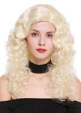Damenperücke Perücke lang Volumen Seitenscheitel Locken Pracht Hellblond Blond