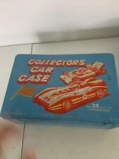 Vintage Collectors Car Case Tara Toys K24 for 1/64 Matchbox Hot Wheels With Cars