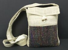 Hemp Purse Recycled Silk Passport Purse Hippie Boho Small Crossbody Bag New